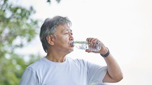 water bottle man drinking