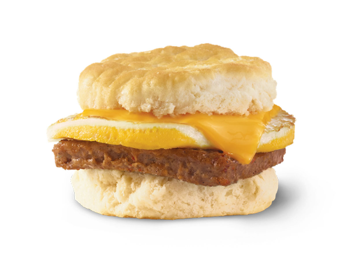 wendys sausage egg cheese biscuit