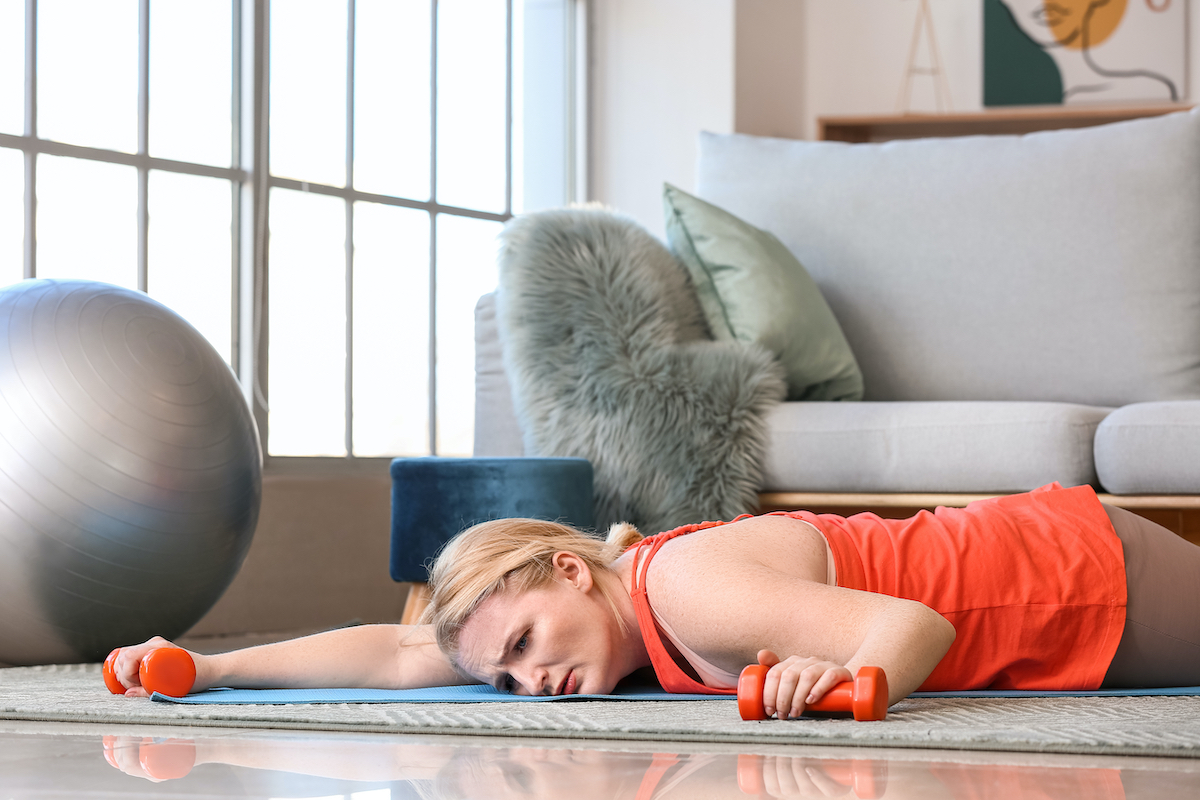 woman who thinks exercise is misery