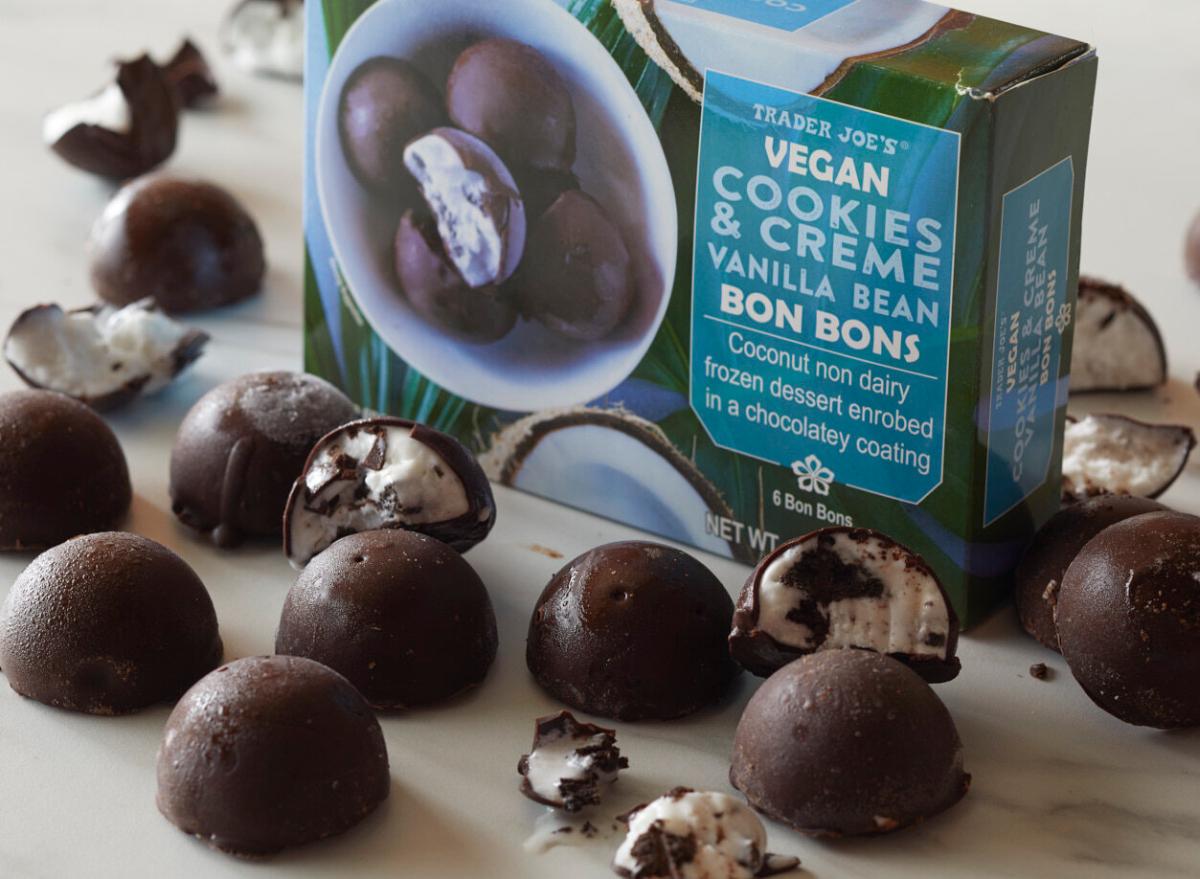 Trader Joe's Cegan Cookies and Creme Vanilla Bean Bon Bons