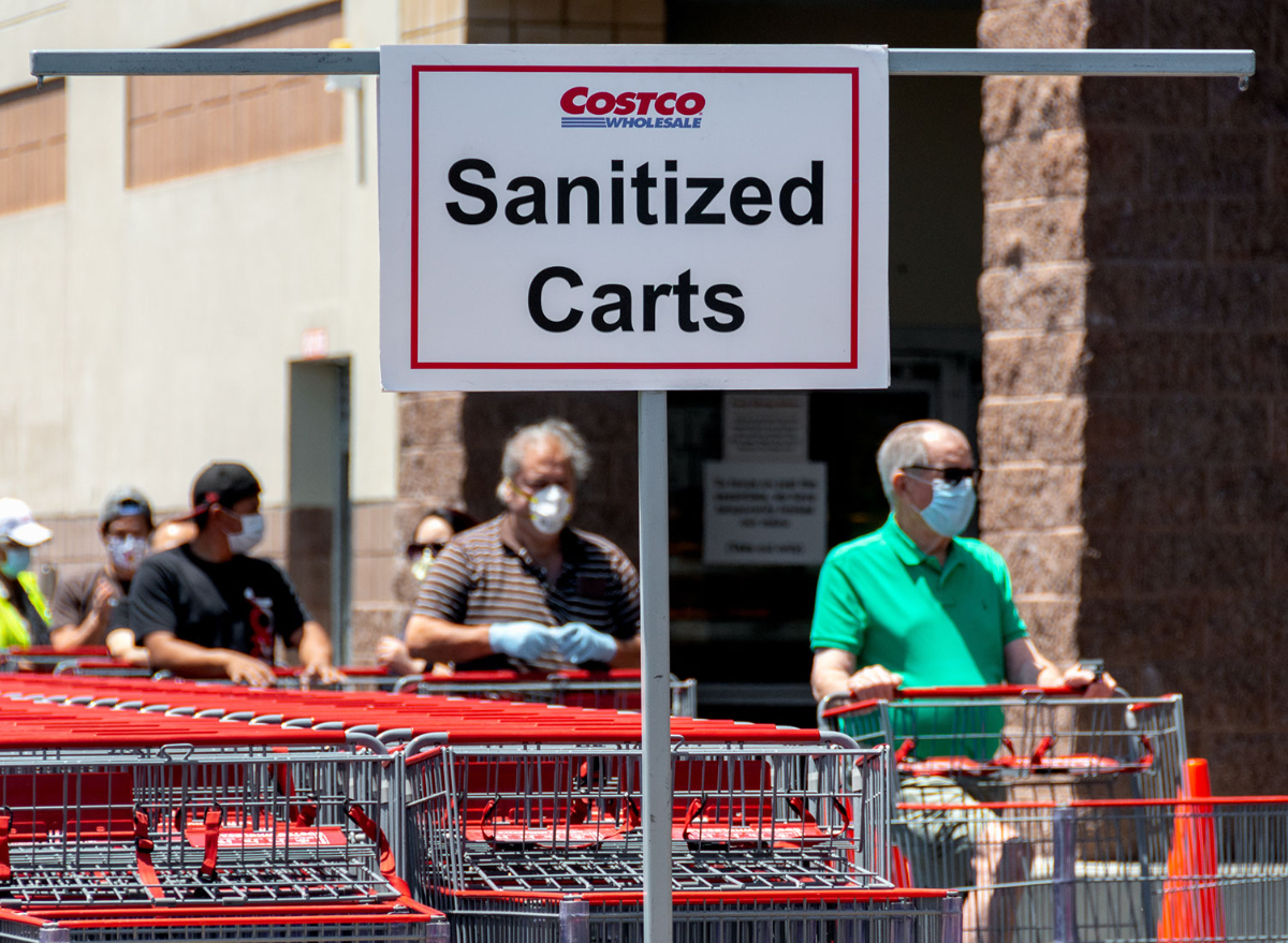 Costco cart sanitizing