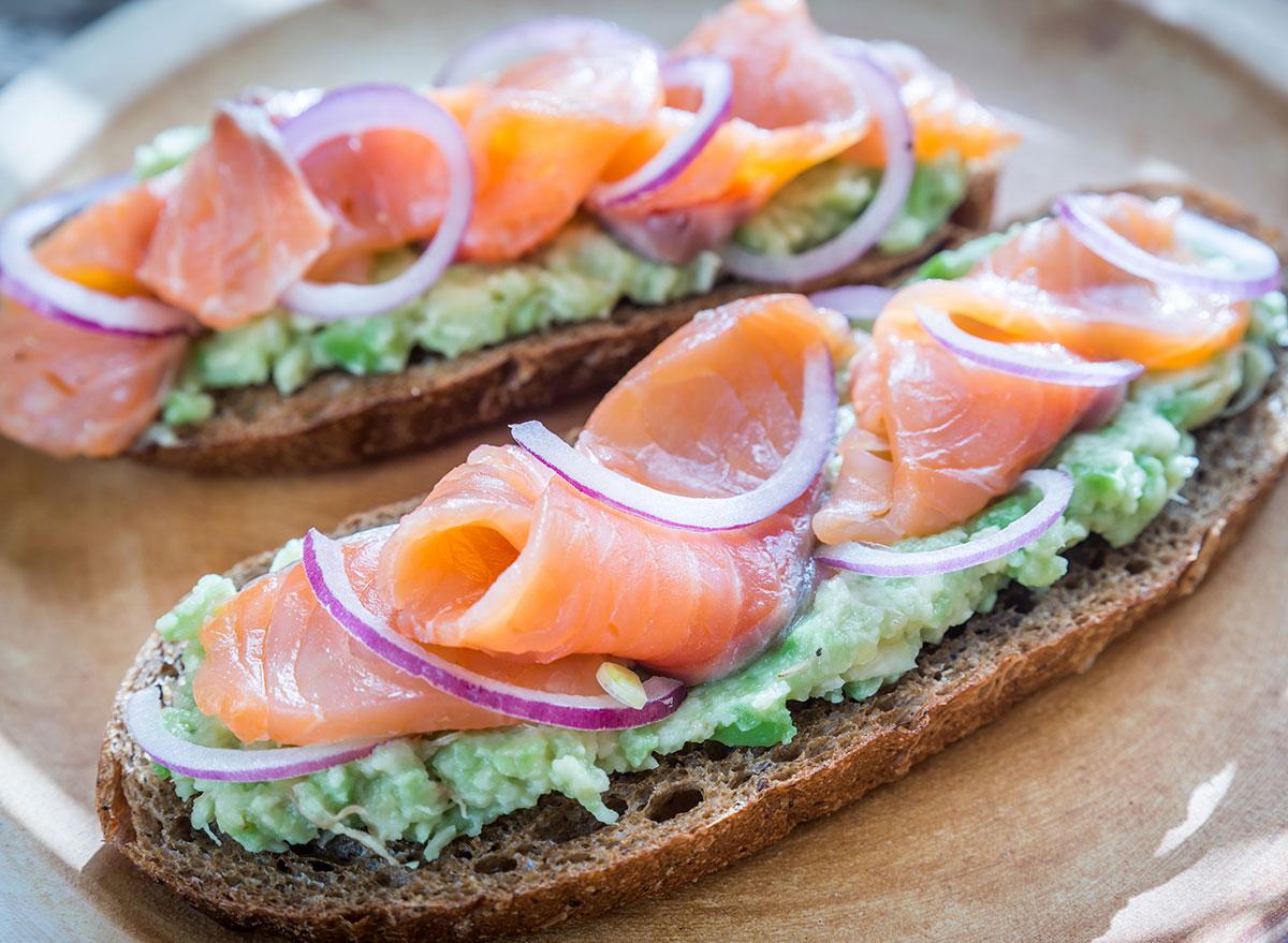 avocado toast smoked salmon