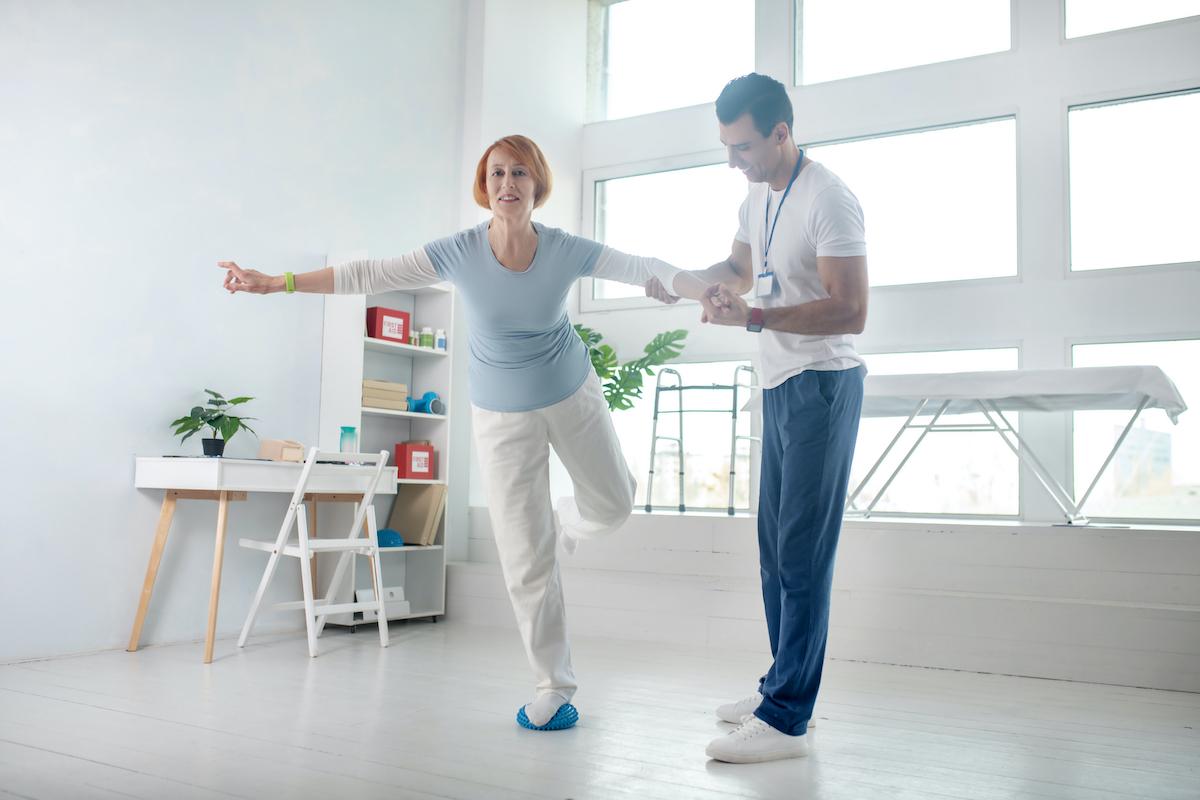 woman balance training