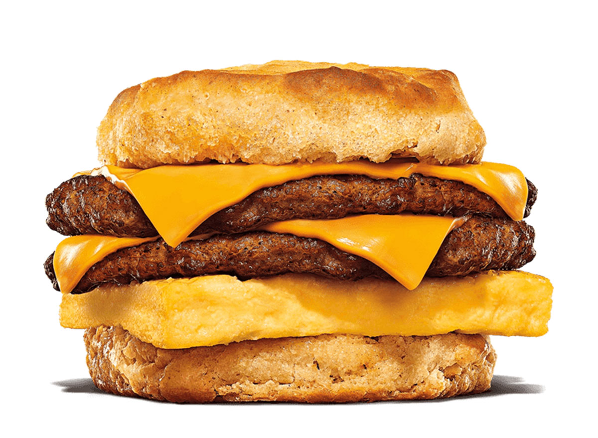 burger king double sausage egg cheese biscuit