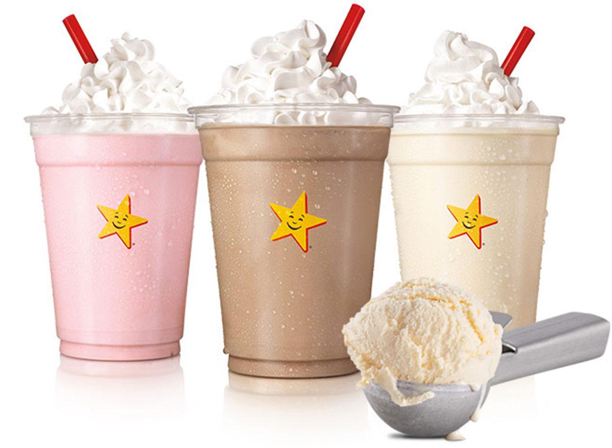 carls jr milkshakes