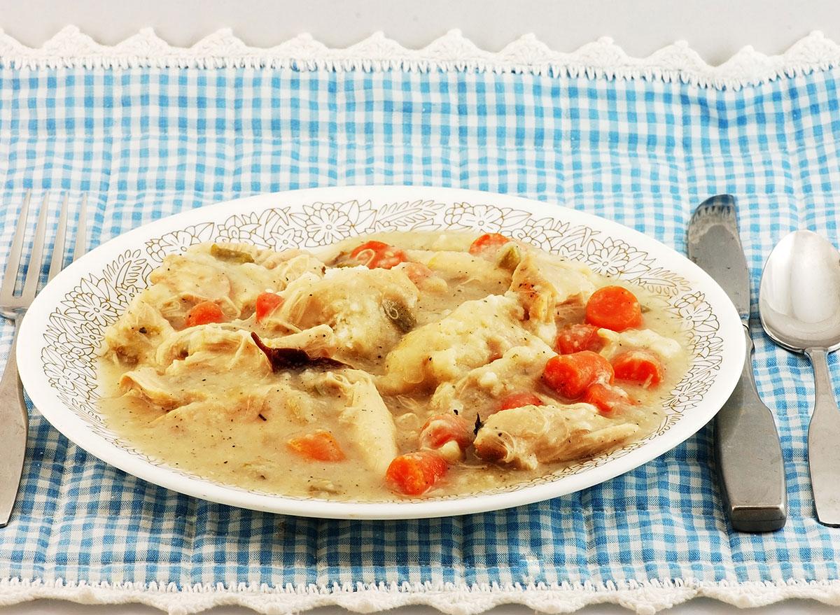 chicken dumpling plate