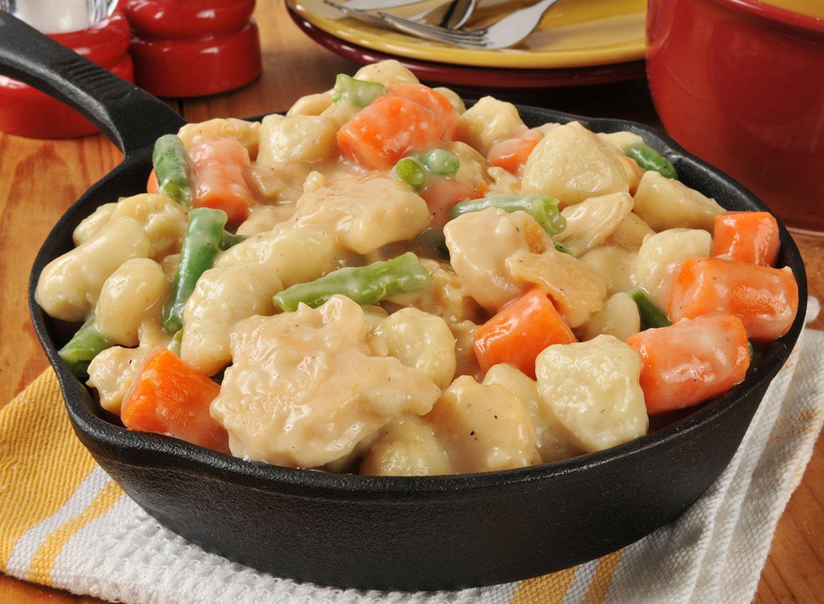 chicken dumplings cast iron