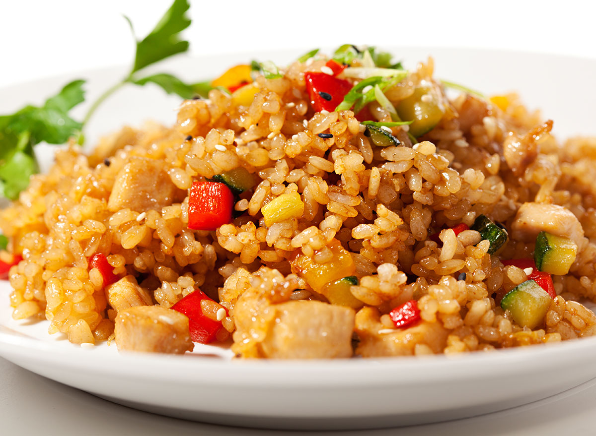 chicken vegetable fried rice
