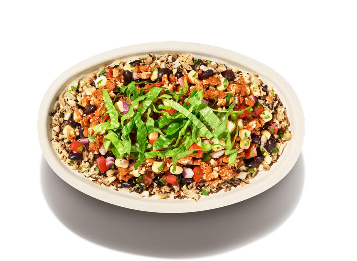 chipotle vegan bowl