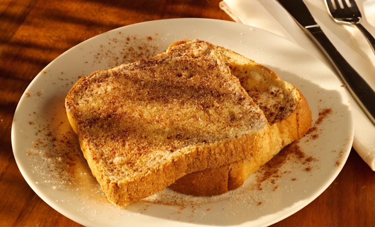 cinnamon toast on white plate