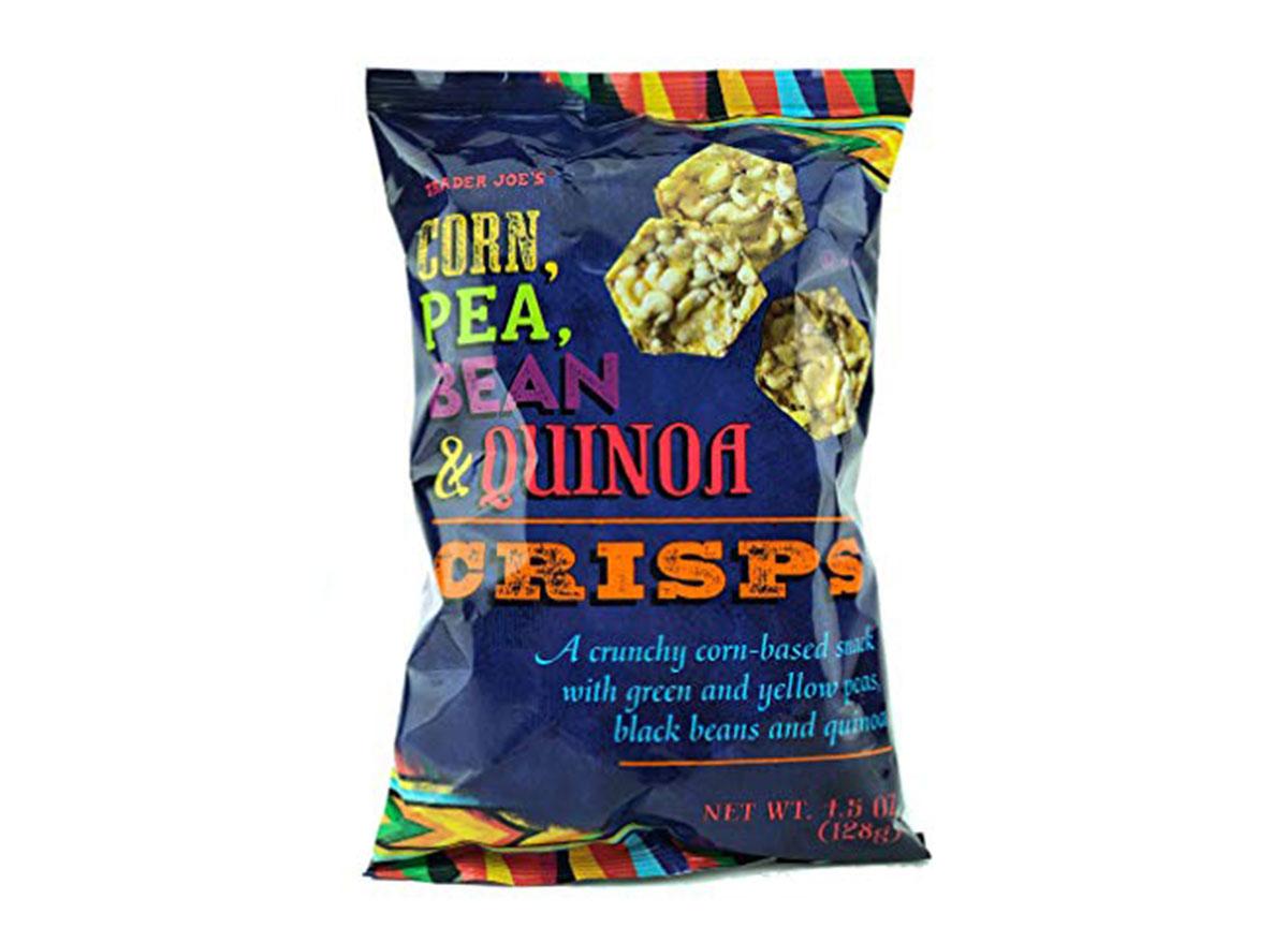 corn pea bean quinoa crisps