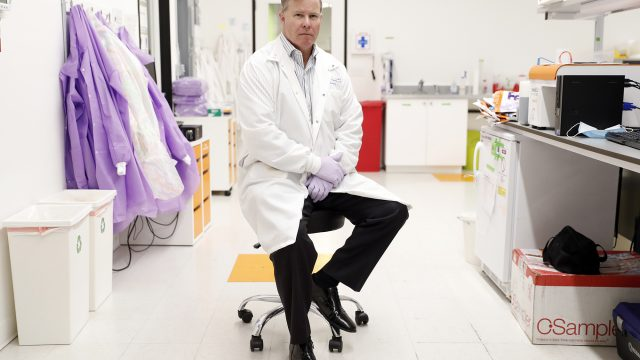 CEO Bruce Patterson of IncellDx in the company's laboratory in San Carlos, Calif.