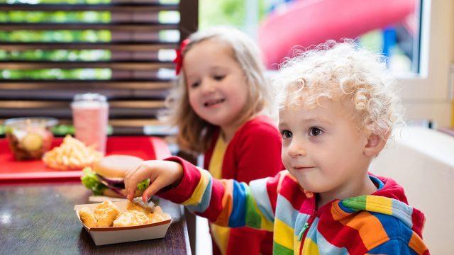 eating kids meal