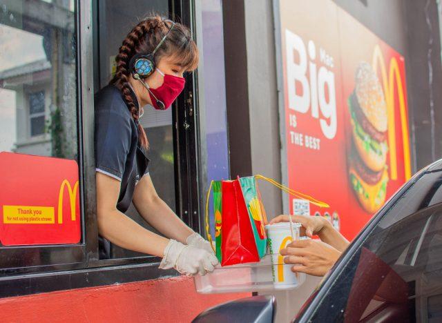 fast food drive-thru
