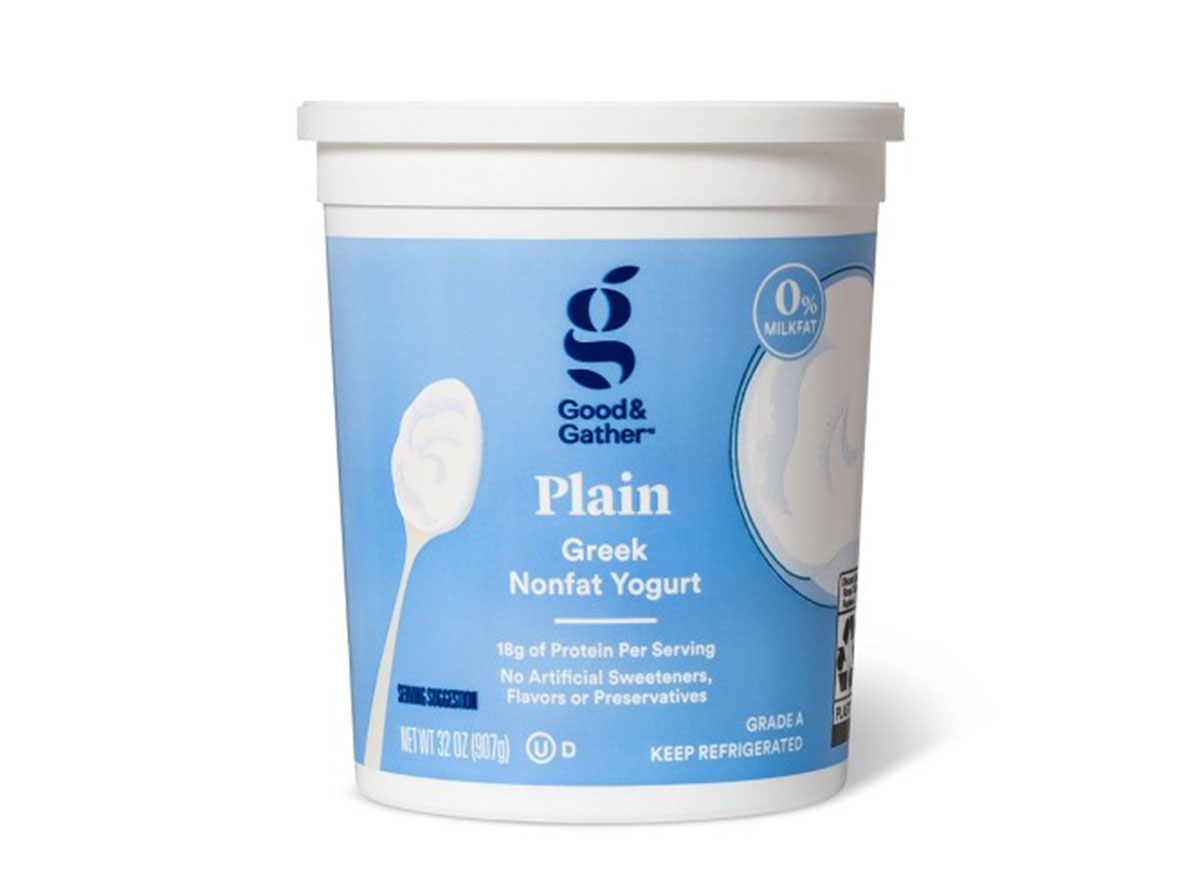 good gather plain greek nonfat yogurt