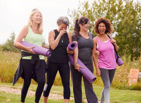 group women yoga