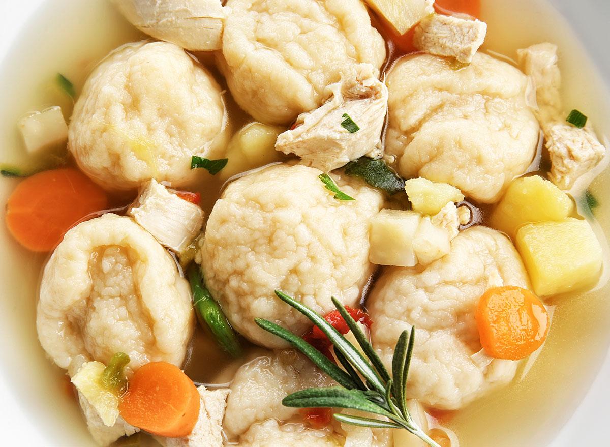 homemade chicken dumplings