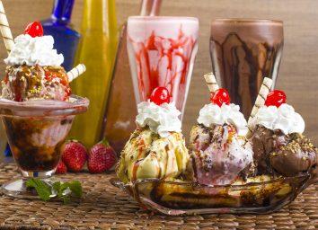 ice cream and milkshakes