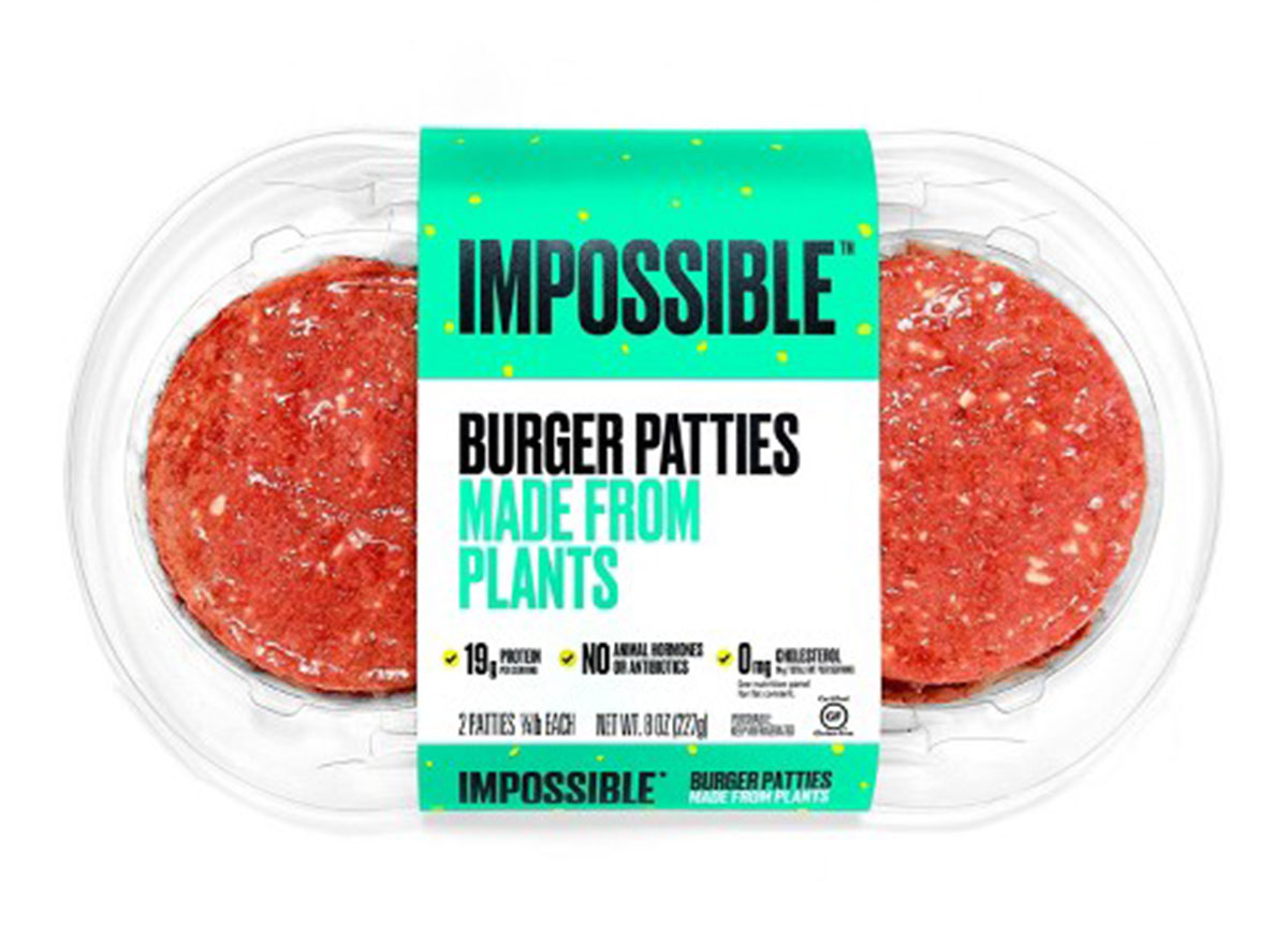 impossible plant based burger patties