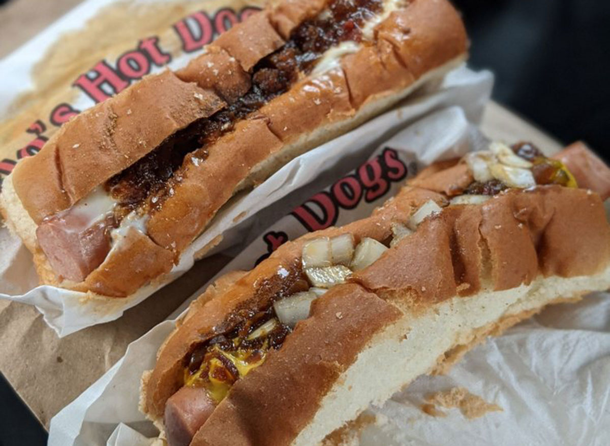 maine flos hot dogs