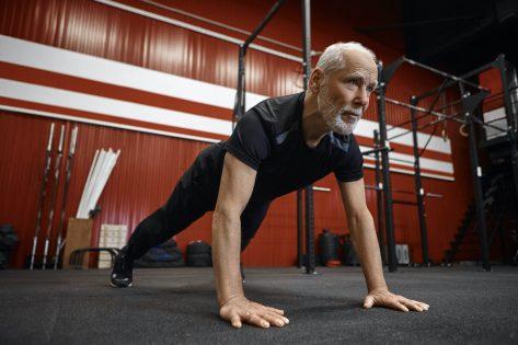 mature man pushup