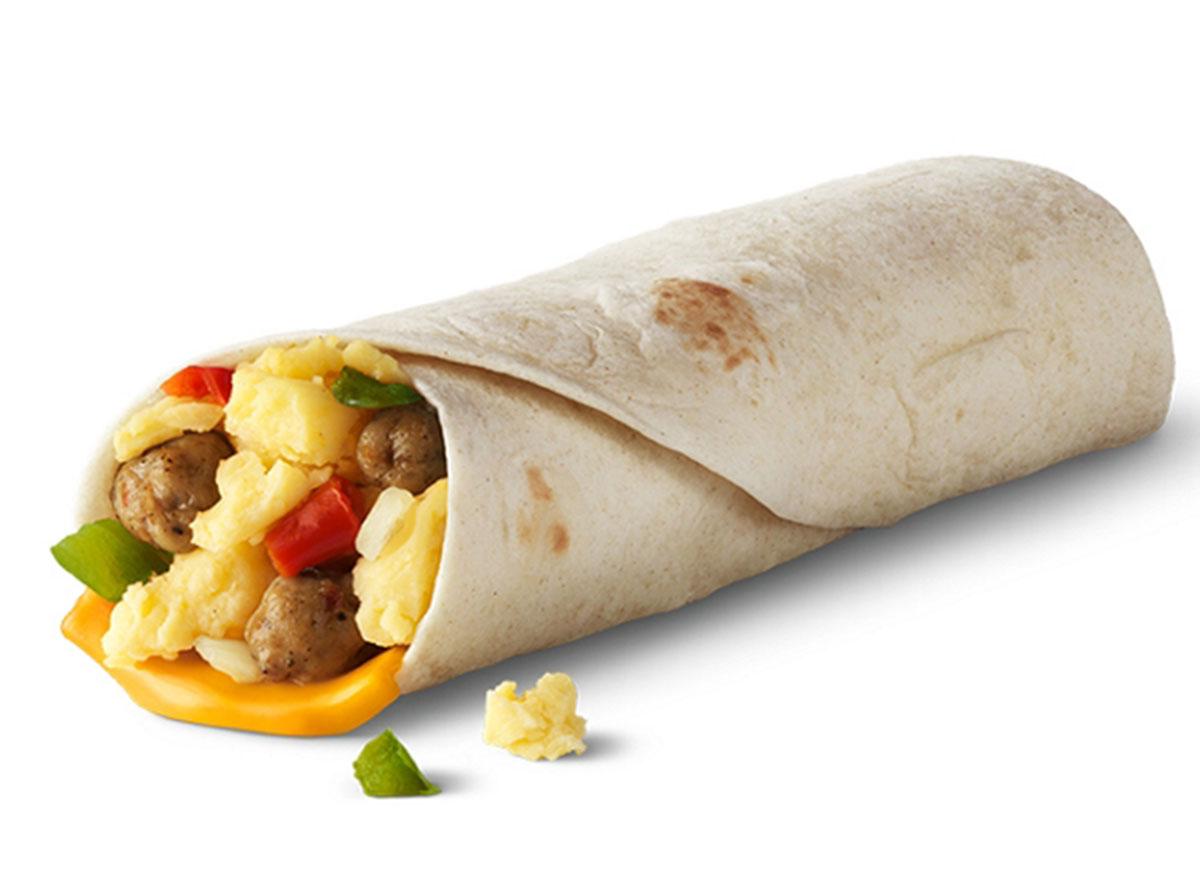 mcdonalds sausage burrito