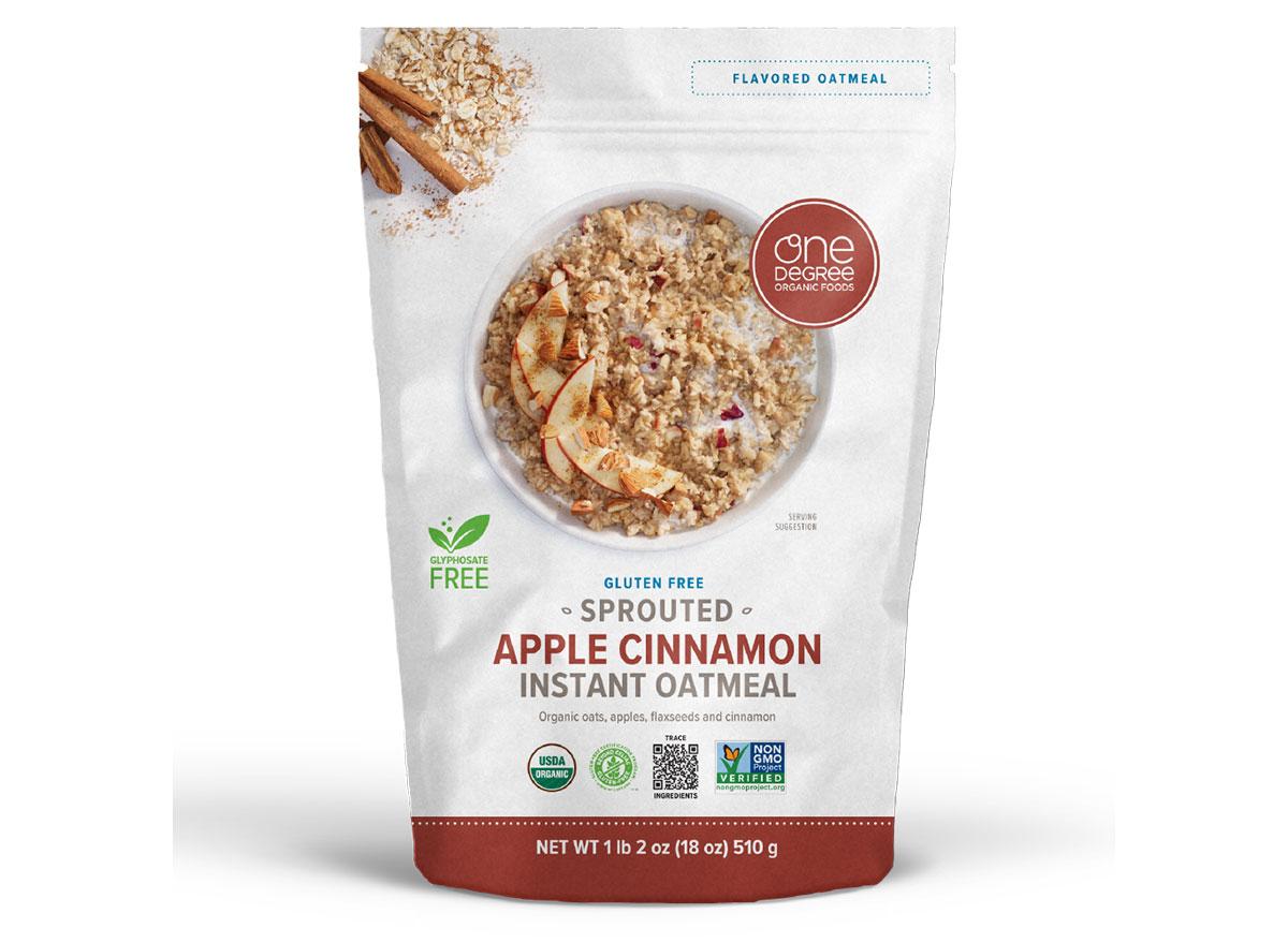 one degree apple cinnamon oatmeal