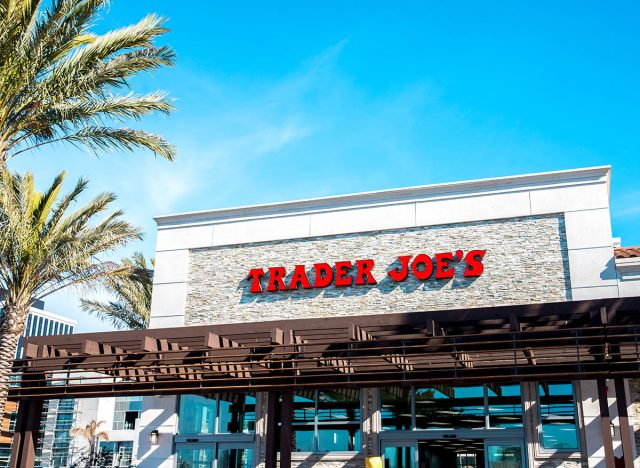 outside trader joes in the sun