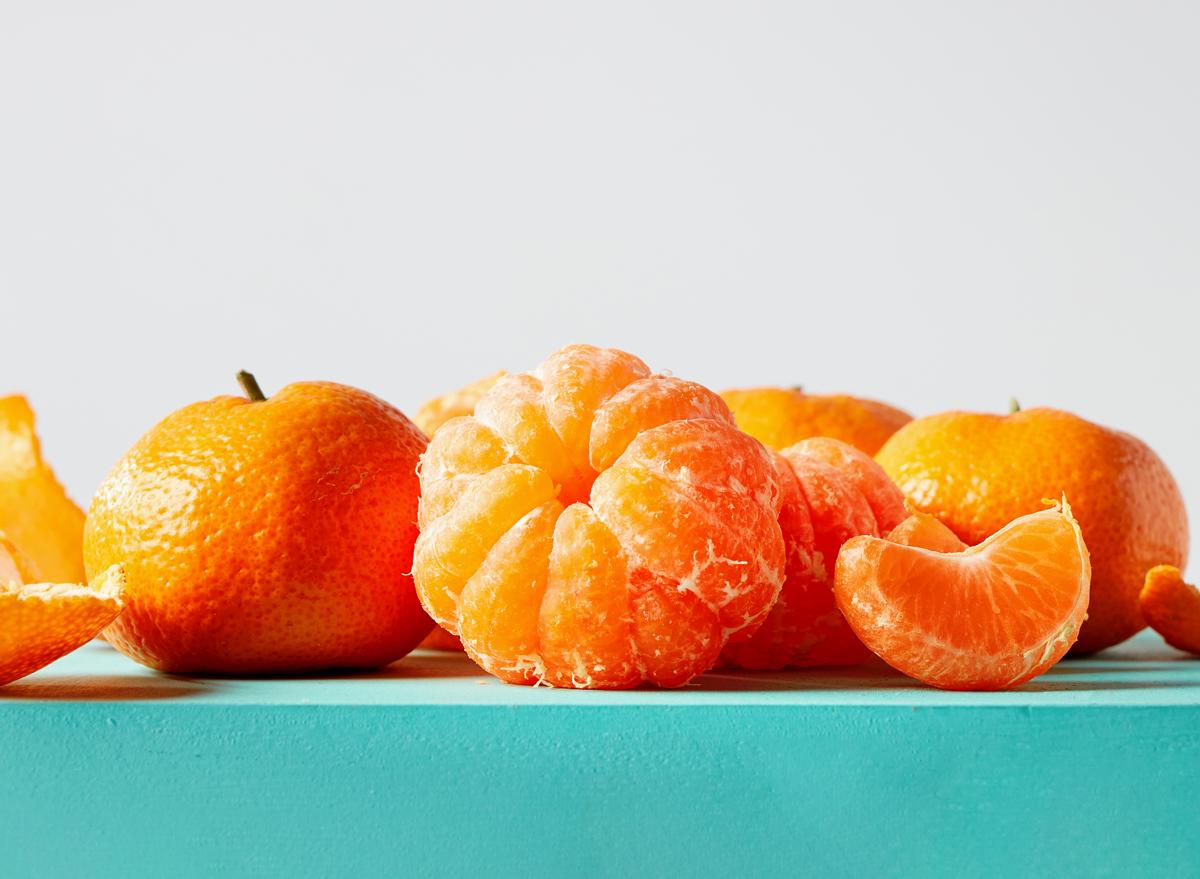peeled mandarin orange