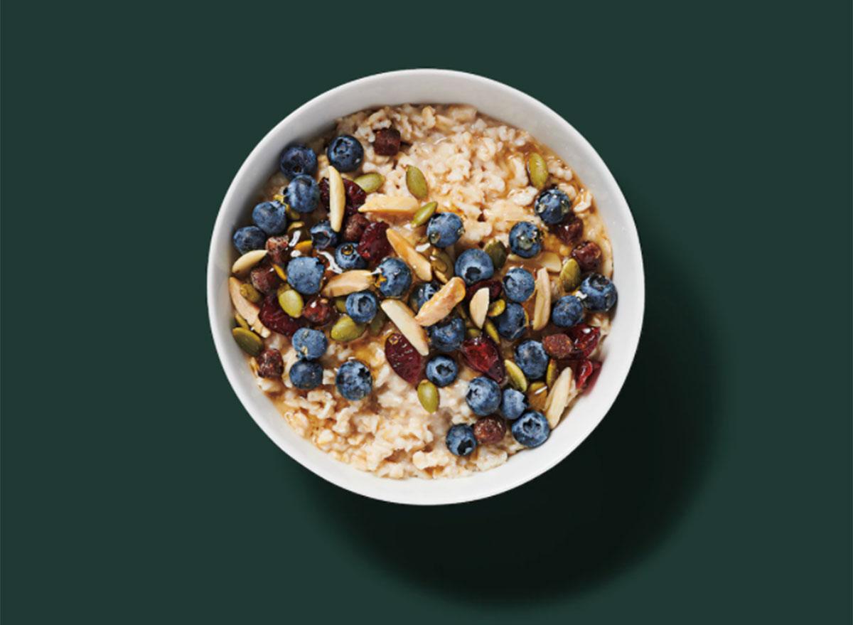 starbucks hearty blueberry oatmeal