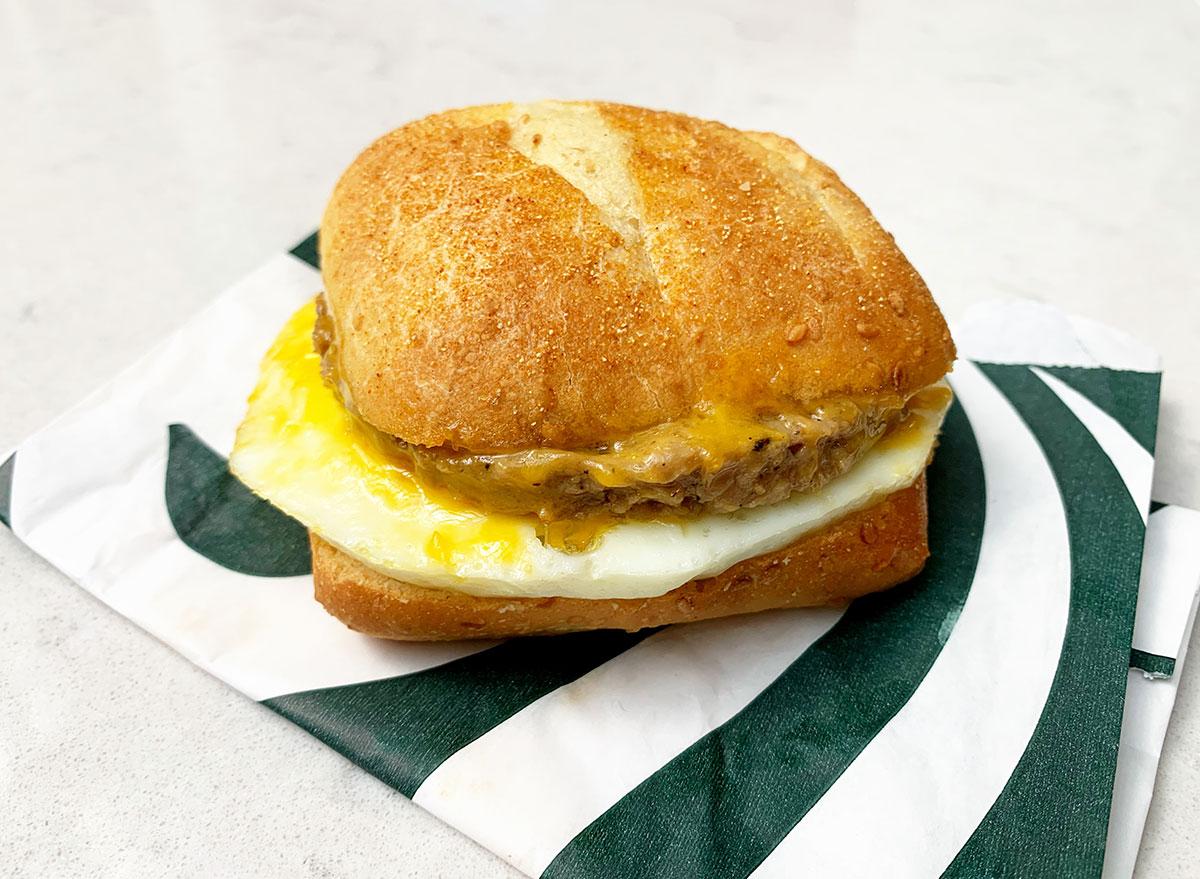 starbucks impossible breakfast sandwich
