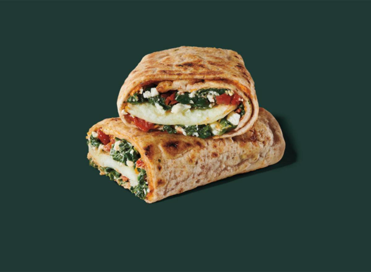 starbucks spinach feta egg white wrap
