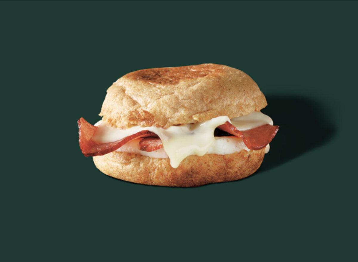 starbucks turkey bacon cheddar egg white sandwich