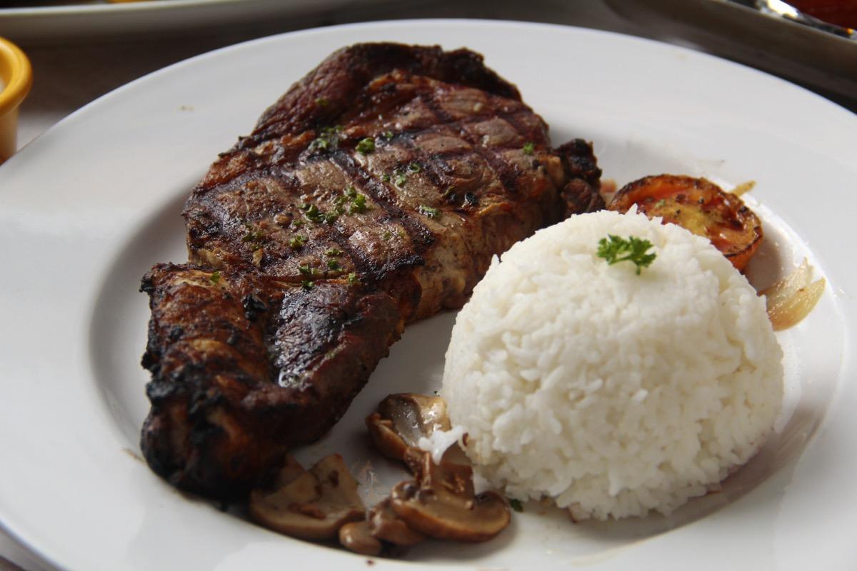 steak and rice