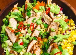 Summer Chicken Sink Salad with Basil and Balsamic