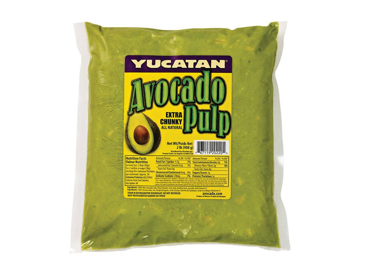 tucatan avocado pulp