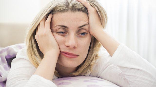Woman having difficulties
