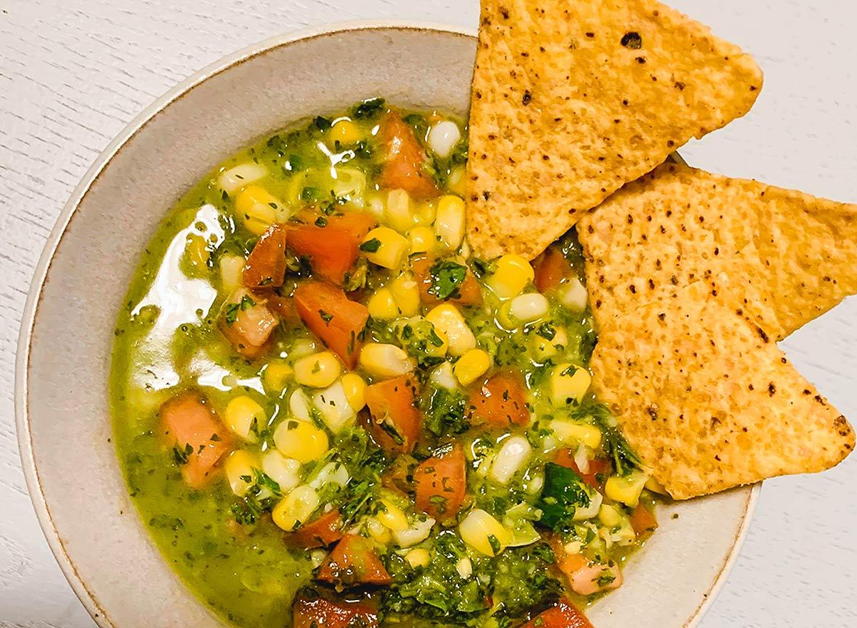 corn tomato chimichurri salsa