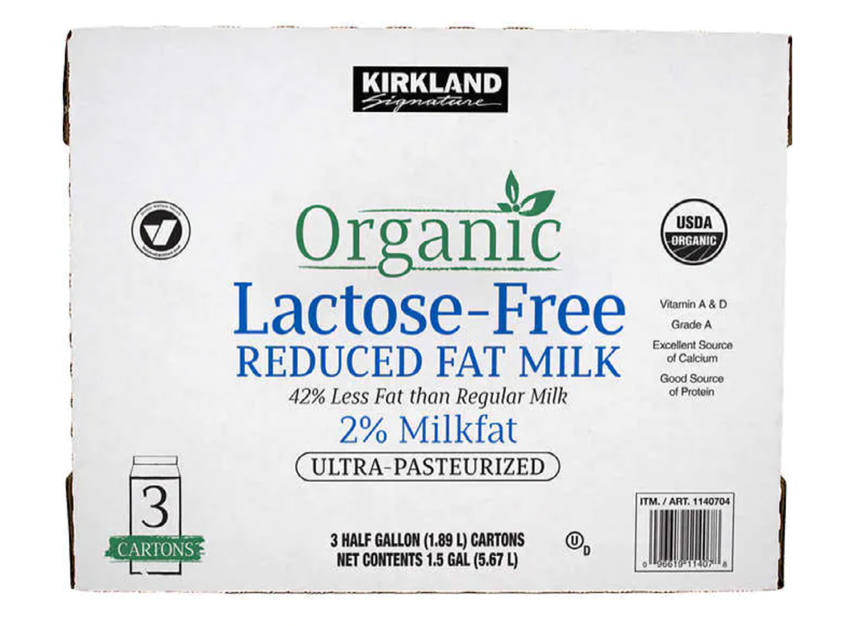 Kirkland Organic Lactose Free Milk