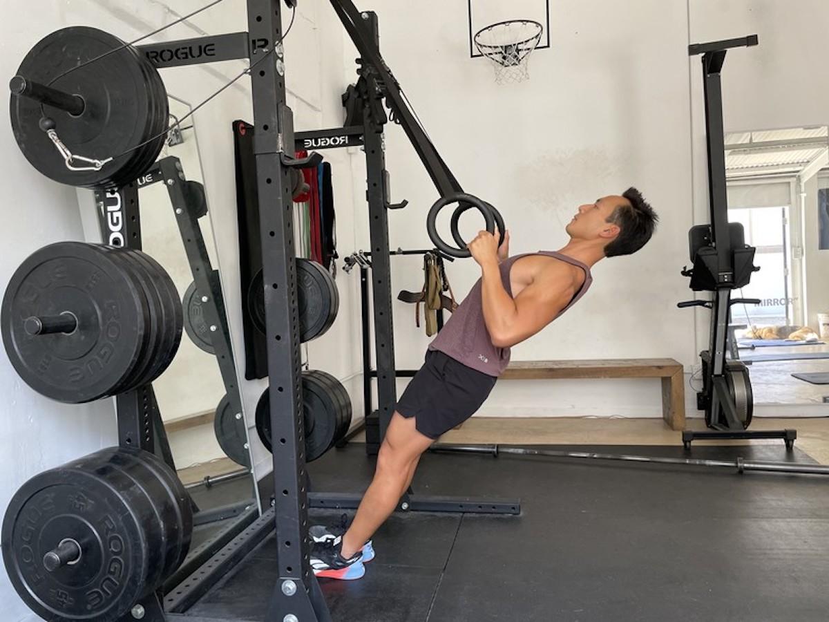 bodyweight ring rows
