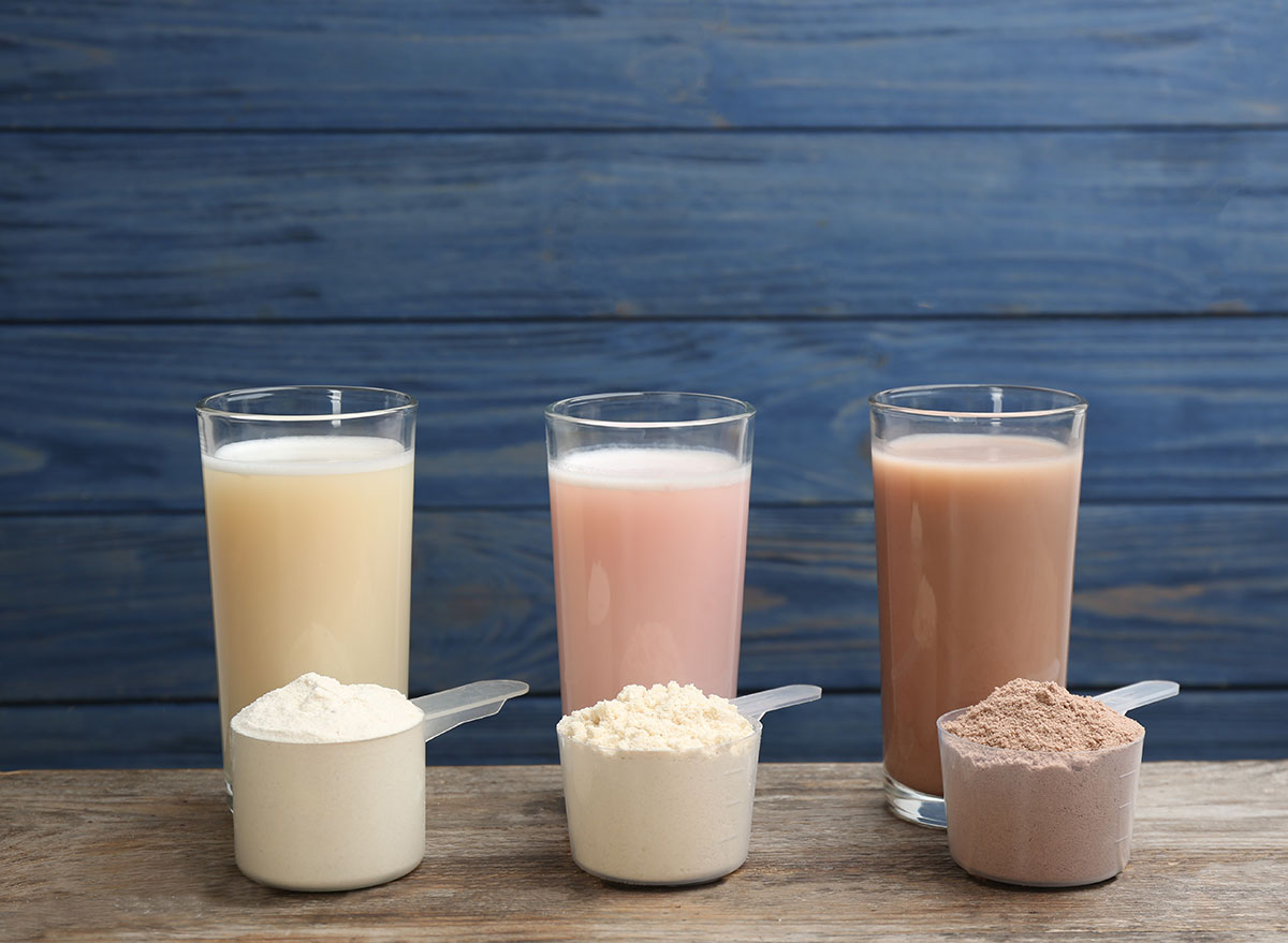 assorted protein shakes