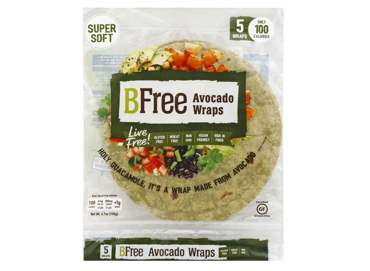 b free avocado wraps