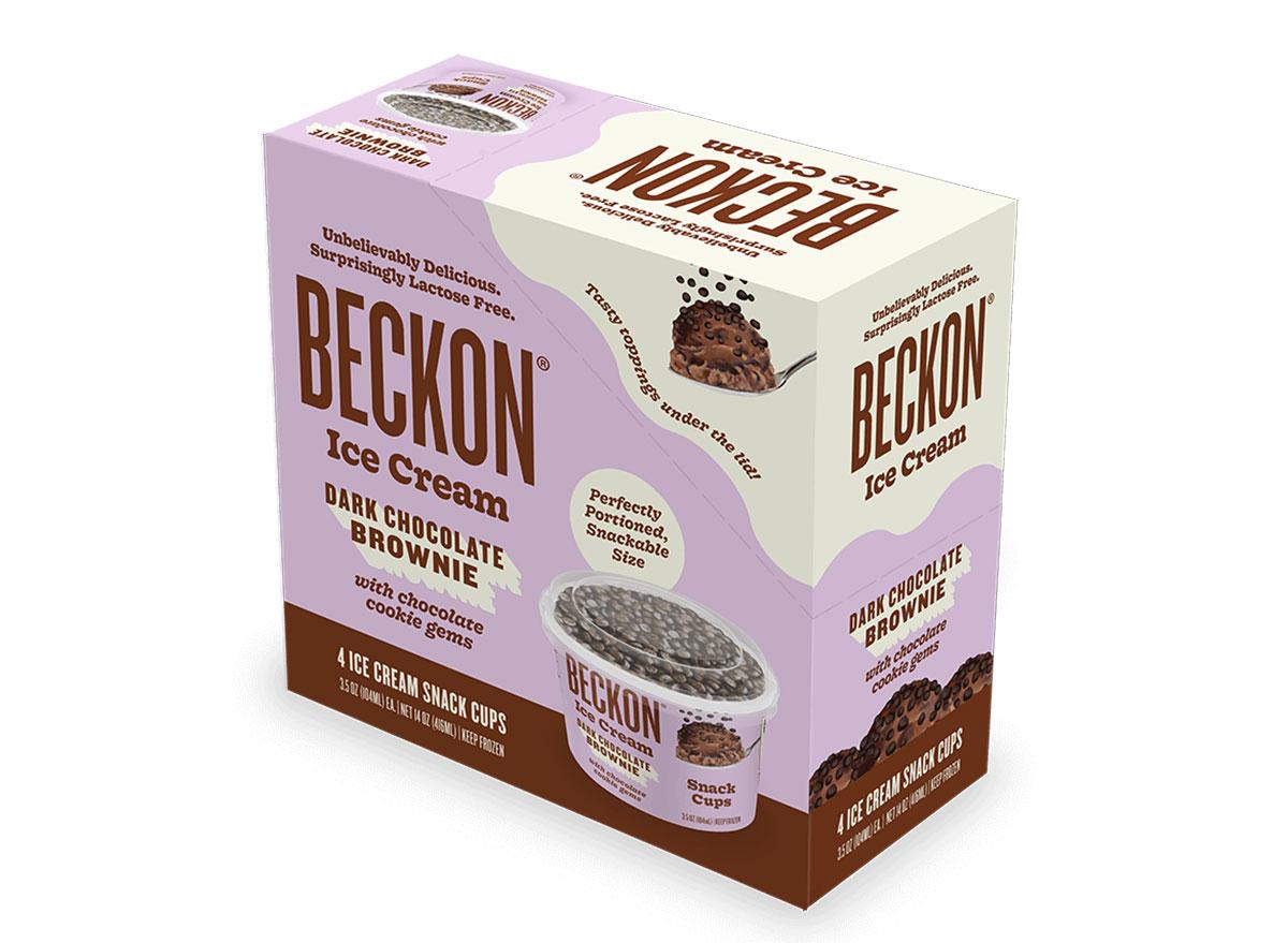 beckon ice cream snack cups dark chocolate brownie