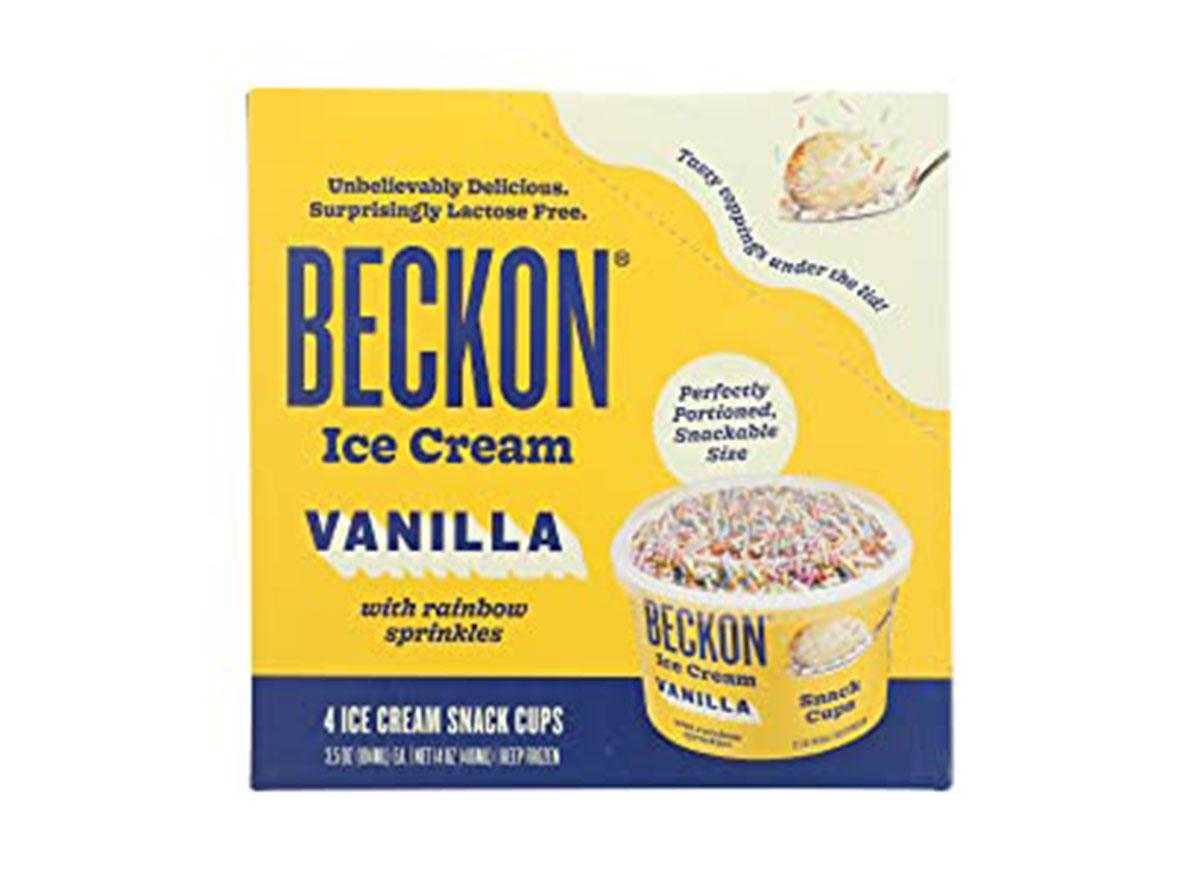 beckon ice cream snack cups vanilla