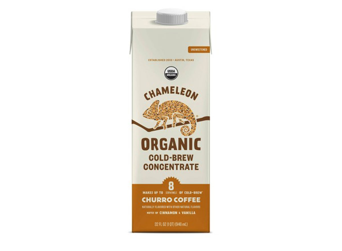 chameleon organic cold brew concentrate churro coffee