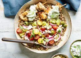 chicken thigh tzatziki bowl recipe