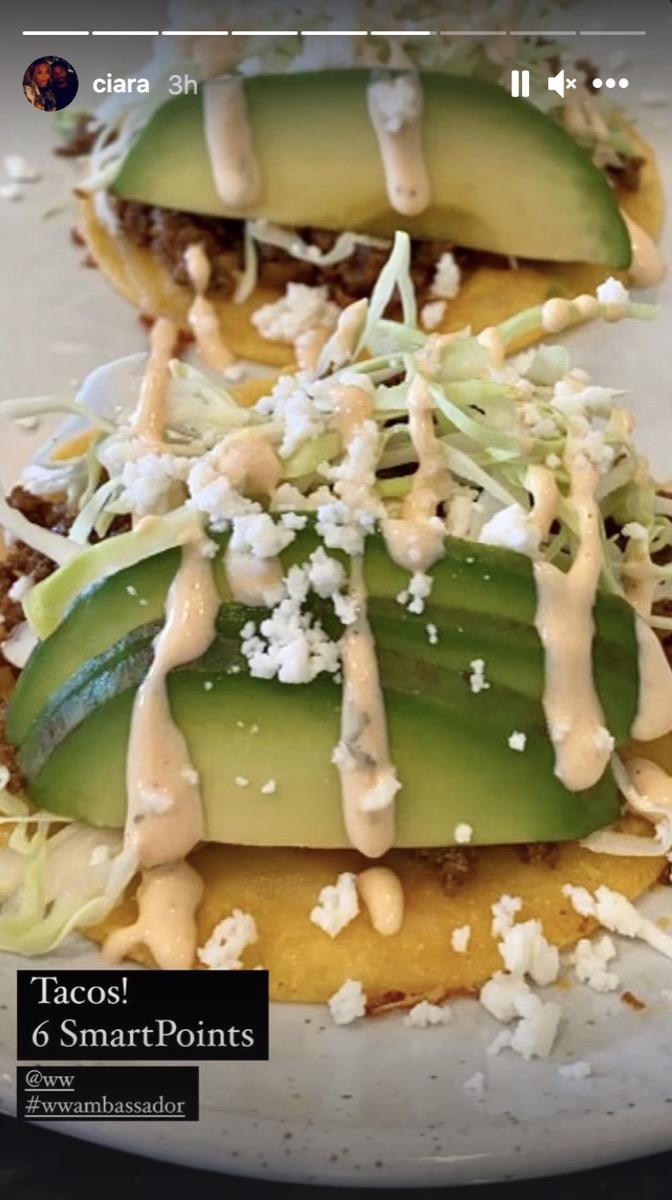 avocado tacos in instagram screenshot