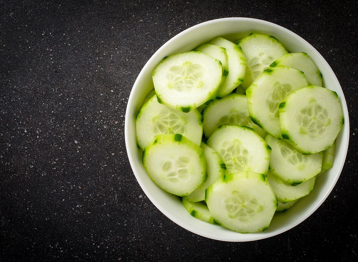 cucumber in bowl