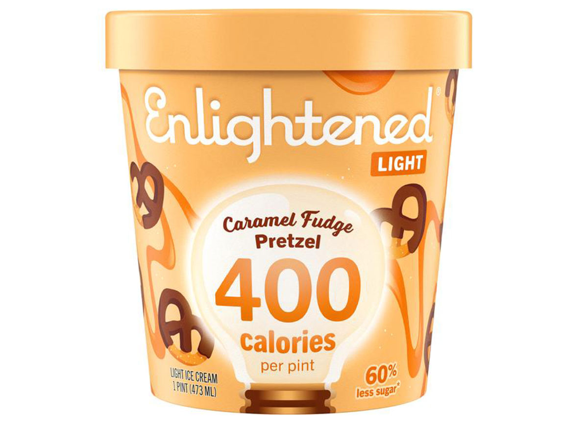 enlightened caramel fudge pretzel
