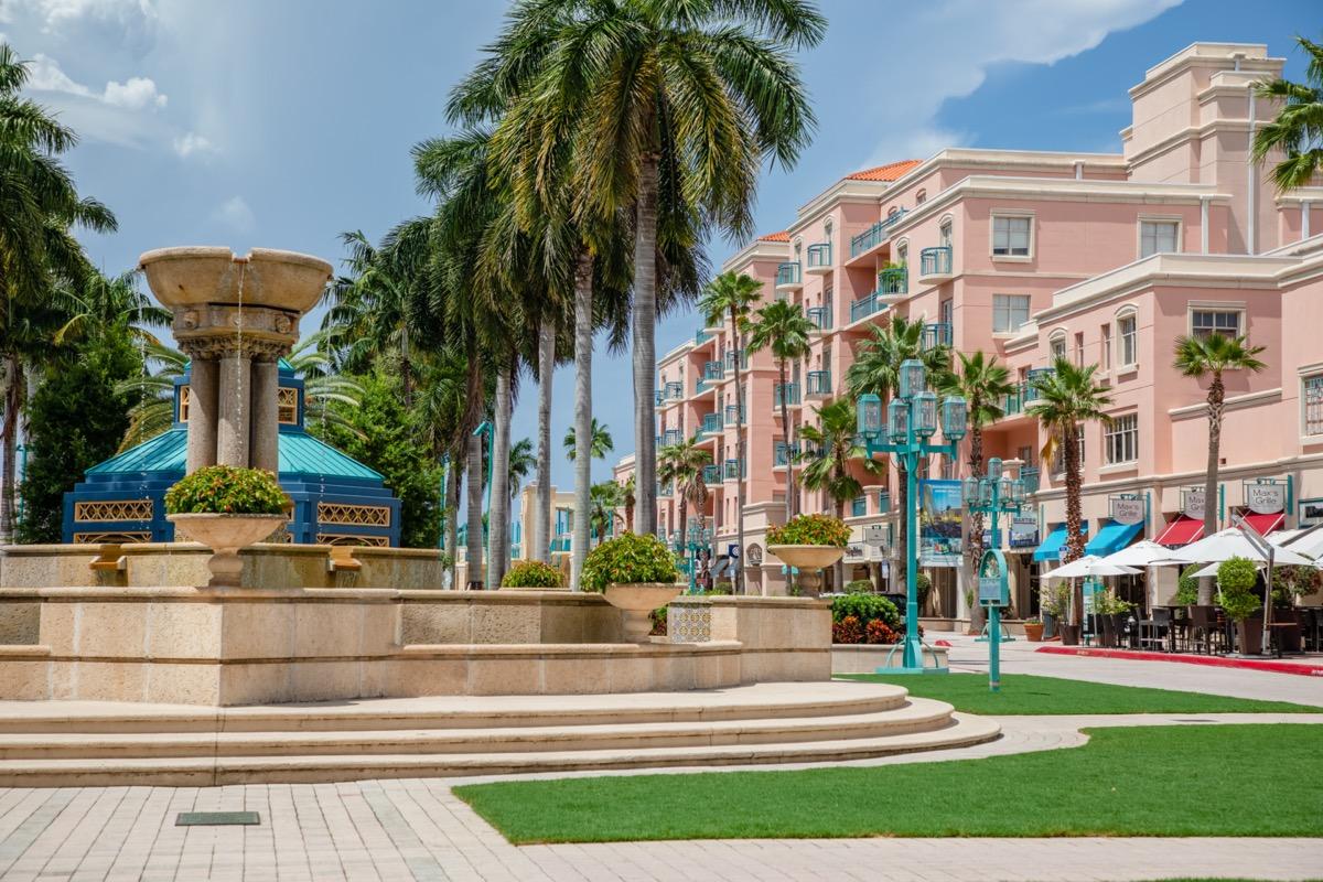 Mizner Park outdoor mall Boca Raton Florida